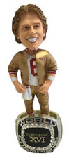 Joe Montana San Francisco 49ers Super Bowl XVI Ring Bobblehead NFL FOCO NIB SF