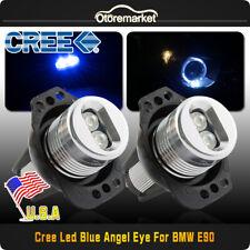 12W Angel Eye LED Halo Ring Bulbs For BMW E90 2006-2008 323i 328i 330xi Blue USA