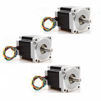 3PC Nema34 Stepper Motor 965 oz.in 5.6A 4leads 34HS9456 CNC kits