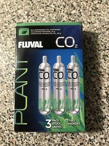 FLUVAL 3-PACK CO2 45g DISPOSABLE CO2 Cartridge NEW!!!