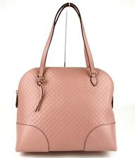 Gucci Bree Soft Pink Microguccissima Leather Large Dome Bag 449243 5806