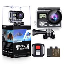 "OGL WIFI ACTION CAMERA 4K 24MP WATERPROOF ULTRA HD REMOTE EIS SPORT 2"" LCD"