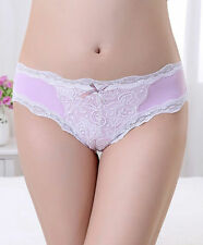 Lace bikini panty in nylon/spandex - five colors to choose from - HB7006