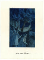K. Krause, Große kolorierte Radierung, 10/30 von 1985