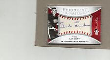 ted lindsay detroit red wings auto card 2007/08 ud sweetspot sbs-tl