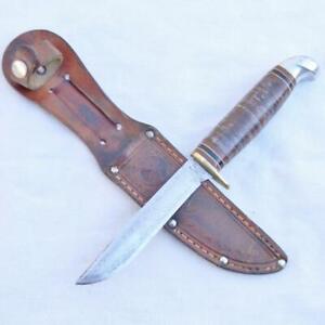 "MARBLE'S USA vintage 1954-1965 SPORTSMAN knife orig ""Moose & Goose"" sheath; RARE"