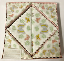 "VINTAGE FREUND MAYER PAPER NAPKINS BUTTERFLIES 6"" AND 9"" NOS UNUSED"