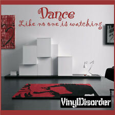 Dance like no one is watching Wall Quote Mural Decal-girlsbedroom02