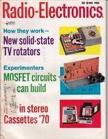 Radio-Electronics Magazine DEC 1969  - tv antenna rotators stereo cassette /b1