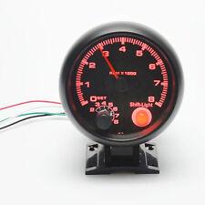 3.75'' RPM Tachometer Tacho Gauge Auto Car Meter Light Black DC 12V HOT SALE