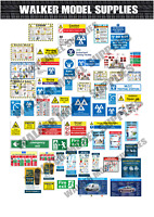 1:24 scale Pre-cut Garage Safety signs/ stickers/ car diorama/model  1