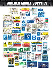 1:24 scale Pre-cut Garage Safety signs/ stickers/ car diorama/model 1