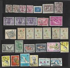 Lot of Various INDONESIA Stamps-Singapore, Malaysia, Malaya Macau & Sarawak