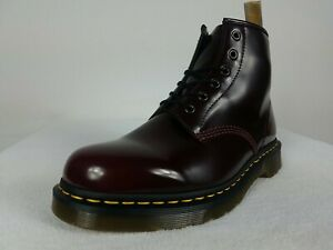 Dr Martens Air Wair 101 Vegan Boots Men's 12 Cherry Red Oxford Rub Off Leather