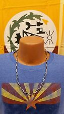 Native Southwestern Sterling Silver Navajo Chain Necklace - Triangle Stamped