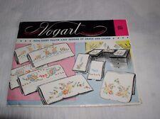 1950s New Vogart 135 Hope Chest Pillow Case Mr & Mrs Transfer Pattern Embroidery