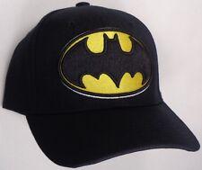Hat Cap Licensed DC Comics Batman Yellow Logo Black CC