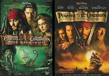 Pirates of the Caribbean Movies #1&2: Black Pearl and Dead Man's Chest (Dvds)