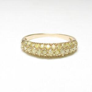 Estate 14K Yellow Gold 37 Yellow Brilliant Cut Diamond Band Style Ring 0.50 Cts