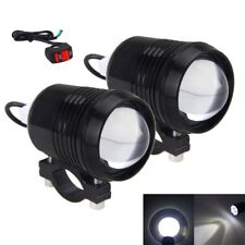 2x 30W Motorcycle U2 LED Driving Headlight Fog Lamp Spot Light For BMW + Switch