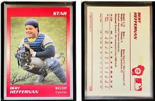Bert Heffernan Signed 1989 Star #109 Card Helena Brewers Auto Autograph