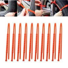 10x Car Autocross Outdoor Plastic Winter Tyres Wheels Anti-Skid Snow Chains Red