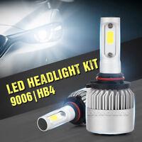9006 HB4 200W 20000LM 6500K LED Bulb Headlight Kit High Low Beam Light COB Lamps