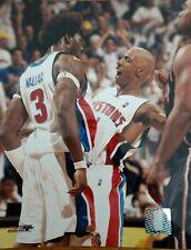 BEN WALLACE & CHAUNCEY BILLUPS 8X10 ACTION PHOTO Detroit Pistons