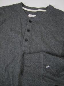 Mens XL Rag & Bone heather gray long sleeve henley shirt