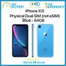 New Apple iPhone XR 6.1 inch 64GB Dual SIM Unlocked - Blue - Apple Warranty