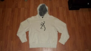 Medium size Country Hunting BROWNING Ragged Cut Embroidered Hoodie sweatshirt