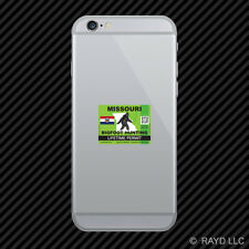 Missouri Bigfoot Hunting Permit Cell Phone Sticker Mobile Sasquatch Lifetime