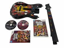 Nintendo Wii Red Octane Guitar Hero 5 & Aerosmith Bundle 95455.805 Tested READ