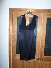 BNWT Teatro Black Dress with Chiffon straps + Diamonds   Size 8