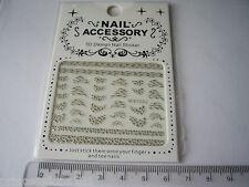 3d Punta Nail Art Adesivi Decalcomanie trasferimento argento glitter leopardato b123