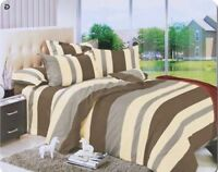 Cotton Contains Bedding Set, Duvet Cover Set With Pillow Cases & Fitted Sheet