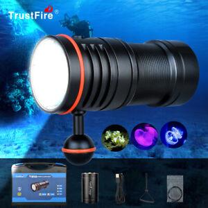 TrustFire DF50 6500LM Video Diving Photoraphy Light Underwater 100m Flashlight