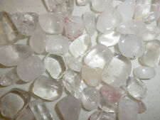 Tumbled Clear Quartz Crystal Stone small size pieces 100 gram Lot
