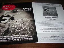 JACQUES HIGELIN - LOT COLLECTOR COUP DE FOUDRE !!!!!!!!