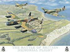 Battle of Britain, Spitfire Aeroplane Lancaster Bomber RAF, Small Metal/Tin Sign