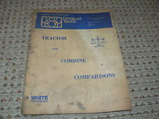 Oliver White Tractor & Combine Comperison Manual from 1977