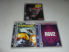 PLAYSTATION 3 VIDEO GAME LOT R6V2 HAWX METALGEARSOLID4 GUNS PS3 COMPLETE