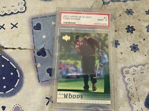 Tiger Woods 2001 Upper Deck Golf Baseball Card