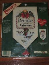 "1998 DIMENSIONS WELCOME TO THE CROSS STITCH BANNER KIT 8580 14"" BIRD PERSONALIZE"