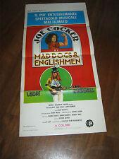 """LOCANDINA,1971,JOE COCKER E I """"Mad Dogs & Englishmen"""" ,LEON RUSSEL,C.STAINTON"""