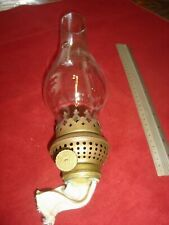 "Round Wick Burner with 10"" Tall Chimney, Outside Threads 1 1/2"" or 3.9 cm"