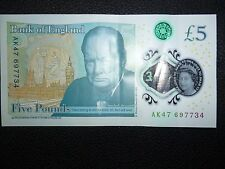five  pound note - collectable serial number Ak47