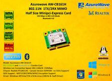 Azurewave AW-CB161N Minipci-E 802.11N Bluetooth 4.0 Realtek RTL8821AE 150mbps