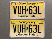 NEW JERSEY LICENSE PLATE PAIR/SET VUH-63L EMBOSSED NICE !! FREE SHIPPING!!