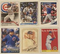 ⚾️Kyle Schwarber 6-CARD LOT including ROOKIE 2016 Topps Bunt, Chicago Cubs